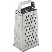 Winco SQG-1 Tapered Grater W/ Handle, Stainless Steel Handle, Stainless Steel - Pkg Qty 12