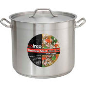 Winco SST-32 Stock Pot W/ Cover, 32 Qt.