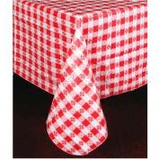"""Winco TBCS-52R Checkered Table Cloth , 52""""L, 52""""W, PVC W/ Flannel Backing, Square, Red & White Package Count..."""