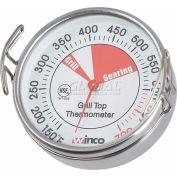 Winco TMT-GS2 Dial Grill Surface Thermometer with Clip - Pkg Qty 12