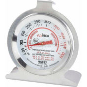 Winco TMT-OV2 Dial Oven Thermometer with Base and Hook - Pkg Qty 24