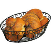 Winco WBKG-10O Oval Black Wire Bread Basket - Pkg Qty 24
