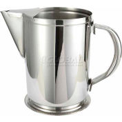 "Winco WPG-64 Water Pitcher W/ Guard, 64 oz, Stainless Steel, 7""H - Pkg Qty 12"