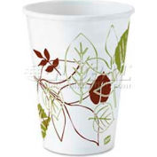 Dixie Hot Paper Cups, 8 Oz. 25/Pack, White/Nature Design
