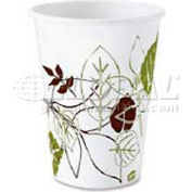 Dixie Hot Paper Cups, 12 Oz., 1,000/Carton, White/Nature Design