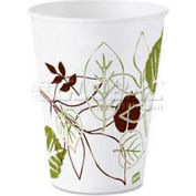 Dixie Wax-Coated Cold Paper Cups, 3 Oz., Nature Design, 50/Pack, White