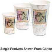 Dixie Insulated Hot Paper Cups, PerfecTouch®, 16 Oz., 500/Carton, Coffee Dreams Design