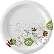 """Dixie Paper Plates, 10-1/8"""" Diameter, Microwavable, Heavy Weight, 125/Pack, White/Pathways Design"""