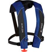 Onyx AO1320M, A/M-24 Automatic/Manual Inflatable Life Jacket, Adult, Blue, 150 Newton