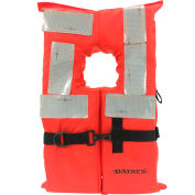 Datrex Offshore Life Vest, USCG Type I, Collared, Orange, Child, DX321RTJ