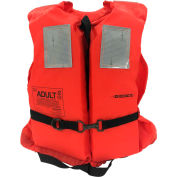 Datrex Offshore Life Vest, USCG Type I, Reversible, Orange, Adult Universal, DX400RTJ