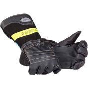 Mullion 2MZXL9 Firefighter Gloves, SOLAS, Black, XL