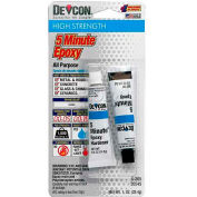 Devcon® 5 Minute® Fast Drying Epoxy (S-205), 20545, 2-.5 Oz. Tubes