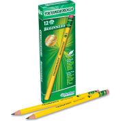 Dixon® Ticonderoga Beginners Woodcase Pencil With Eraser, Yellow Barrel, Dozen