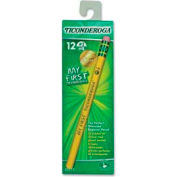 Dixon® Ticonderoga My First Woodcase HB #2 Pencil With Eraser, Yellow Barrel, Dozen