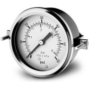 "Dynamic 2 1/2 "" Fluid Glycerine Filled Pressure Gage Panel 4000 PSI"