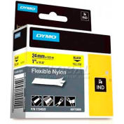 "Rhino 1"" Yellow Flexible Nylon Labels - Pkg Qty 5"