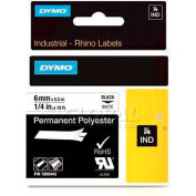 "Rhino 1/4"" White Permanent Poly Labels - Pkg Qty 5"