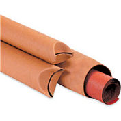 "Crimped End Tube, 48""L x 3"" Diameter x 0.08 Wall Thickness, Kraft, 24 Pack"
