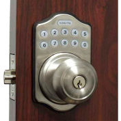 Lockey Electronic Digital Door Lock E-930R Knob Lock, Satin Chrome