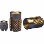 4-40 Flush Press Insert - Brass - 240-004-Br - Pkg Qty 50