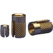 8-32 Flush Press Insert - Brass - 240-008-Br.250 - Pkg Qty 100