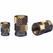 6-32 Straight Ultrasonic Insert - Flush - Hi-006-Wh - Pkg Qty 100