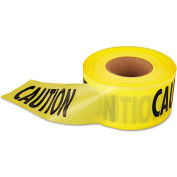 "Empire® Economy Caution Barricade Tape, 3"" x 1000 ft, Yellow/Black"