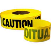 "Empire® Caution Barricade Tape, 3"" x 1000 ft, Yellow/Black"