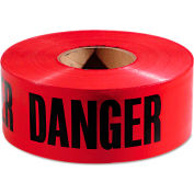 "Empire® Danger Barricade Tape, 3"" x 1000 ft, Red/Black"