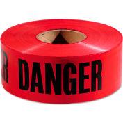 """Empire® Danger Barricade Tape, 3"""" x 1000 ft, Red/Black"""