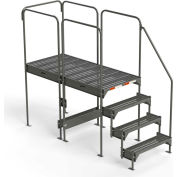 "EGA Steel Custom Work Platform, 36"" W x 77"" D x 45"" H, 4-Step, Gray, 500 lb. Cap. - CW8-45-4-6"