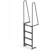 EGA Steel Walk Through Dock Ladder, 4 Step Gray - MDT4
