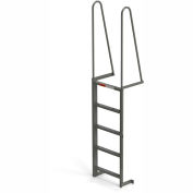EGA Steel Walk Through Dock Ladder, 5 Step Gray - MDT5