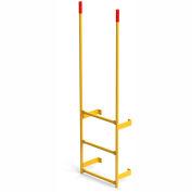 EGA Steel Round Tube Dock Ladder, 3 Step Yellow - MRT-DT3