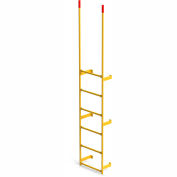 EGA Steel Round Tube Dock Ladder, 6 Step Yellow - MRT-DT6