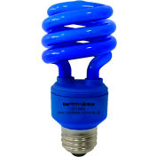 Earthtronics CF13BL1B Mini Spiral CFL Bulb, 13W, Blue