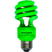 Earthtronics CF13GR1B Mini Spiral CFL Bulb, 13W, Green
