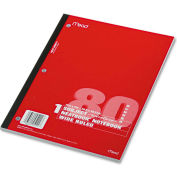 """Mead® Single Subject Notebooks 05222, 8"""" x 10-1/2"""", 80 Sheets/Pad, 1 Pad/Pack"""