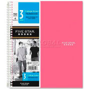 """Mead® Five Star 3-Subject Trend Notebook, 8-1/2"""" x 11"""", College Ruled, 150 Sheets/Pad"""