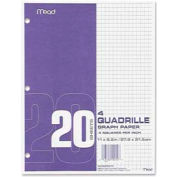 """Mead® Graph Paper, 8-1/2"""" x 11"""", 4 x 4 Square/inch Quad Ruled, 240 Sheets/Pack"""