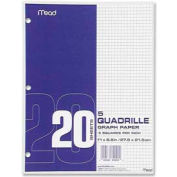 "Mead® Graph Paper, 8-1/2"" x 11"", 5 x 5 Square/inch Quad Ruled, 240 Sheets/Pack"