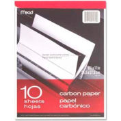 "Mead® Carbon Paper Tablet, 8-1/2"" x 11"", Black, 10 Sheets/Pad"