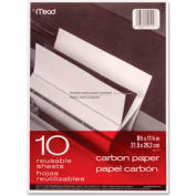 Mead® Black Carbon Mill Finish Paper, 8-1/2 x 11, 10 Sheets/Pack