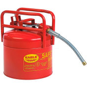 """Eagle D.O.T. Approved Transport Can with 5/8""""Flexible Hose Type II Red 5 Gal., 1215SX5"""
