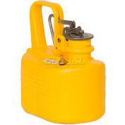 Eagle Polyethylene Lab Can - 1/2 Gallon - Yellow, 1508