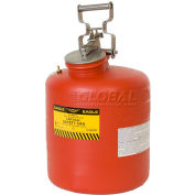 Eagle Disposal Can Poly - Red - 5 Gallons, 1525