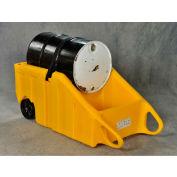 "Eagle Drum Containment Dolly 1617Y - 70 Gallon Cap. - 10"" Wheels - Polyethylene"