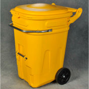 Eagle Wheeled Spill Kit E-Cart w/Lid, 95 Gallon Yellow - 1697Y