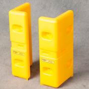 "Eagle HDPE Corner Protector, Yellow, 6""L x 10""W x 21""H (Set of 2), 1720"